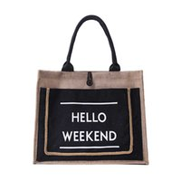 льняные тотализаторы оптовых-Maison Fabre High Quality Women Linen  Totes Large Capacity Casual Handbag Lady Shoulder Bag Daily Bag Fresh Shopping