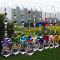 ingrosso ornamenti di cristalli-9PCS Chakra Sun Catchers 30mm Trasparente Sfera Di Cristallo Prisma Arcobaleno Ottagono Perline Ornamenti Appesi Suncatcher Pendente Decorazione WQM145