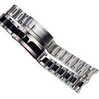 JAWODER Watchband 20 21mm Gold Intermediate Polishig New Men Curved End Stainless Steel Watch Band Strap Bracelet for Rolex Submariner Gmt