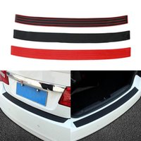 Wholesale car sill covers resale online - Car Trunk Door Sill Plate Rear Bumper Guard Protector Rubber Pad Trim Cover Auto Bumper Edge Prevent Scratches