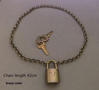 Classic Lock , Set#BN , 1 set= 1 Chain+1 Lock + 2 Keys