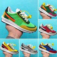 zapatos juveniles para niños al por mayor-NIKE LDV WAFFLE/SACAI para niños grandes Sacai x LDV Waffle Pack Zapatillas de running Pino Verde Triple Negro Verde Gusto Sacai LDV Waffle Zapatillas de deporte para niñas y niños