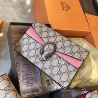 bolsas de nylon para mujer al por mayor-Moda para mujer bolsa de hombro bolsa de mensajero de la cadena de alta calidad bolsos monedero diseñador bolsos cosméticos Crossbody bolsos Totes tamaño 14 * 21 * 6