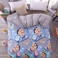 königin rosa tröster abdeckung großhandel-1 STÜCKE Cartoon Crayon Shin-chan Kinder Bettbezug Bettwäsche Quilt Tröster Abdeckung Einzel Doppel Königin King Size BT-02