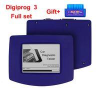 cables de juego completo de digiprog al por mayor-Digiprog 3 4,94 odómetro con el sistema completo de cable OBD2 Kilometraje cambio completo programador del odómetro de Digiprog III Digiprog 3