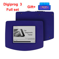 digiprog volle set kabel großhandel-Digiprog 3 4,94 Odometer mit vollem Satz OBD2 Kilometerstand ändert Vollentfernungsmesser-Programmierer Digiprog III Digiprog 3