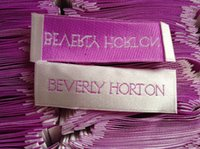 Wholesale clothing labels for sale - Group buy 250pcs Customized white satin woven labels for clothing woven labels sewing tag for garment shiny label