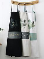 koreanische niedliche küche großhandel-Nordic Wind Cotton Apron Wasserdicht und ölbeständig Men Cooking Kitchen Cute Fashion Koreanische Version der japanischen Schürze