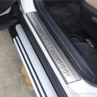 сталь rav4 оптовых-Стайлинг автомобиля для Toyota RAV4 RAV 4 2013 2014 2015 2016 2017 нержавеющая сталь наружный порог протектор педали потертости пластина крышка 4 шт.