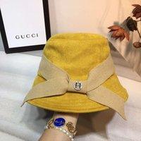 ingrosso h lettere-Progettista delle donne Caps lusso Stingy Brim Hat H lettere Marca regolabile autunno-inverno cappelli di alta qualità 3 colori facoltativi con la scatola