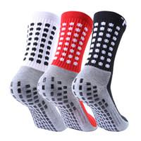 nylon-slip-socken groihandel-2019 Verkaufsfußballsocken rutschfeste Fußballsocken Herren-Fußball-Socken Qualität Baumwolle Calcetines mit Trusox
