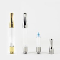 Wholesale wax gold for sale - Group buy Gold Silver G2 Atomizer Vape Cartridges ml ml Wick Coil Cartridge Glass Tank Dab Wax Vaporizer Atomizer Thread Battery