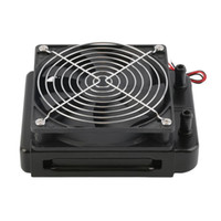 Wholesale water heat exchanger resale online - Professional mm Water Cooling CPU Cooler Fan Row Heat Exchanger Radiator with Fan for PC Accessory
