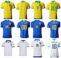 brezilya forması forması toptan satış-19 20 Erkekler Futbol Brezilya 10 NEYMAR JR Jersey Brasil 9 İSA 11 COUTINHO 12 MARCELO 2 SILVA Futbol Gömlek Kitleri Üniforma