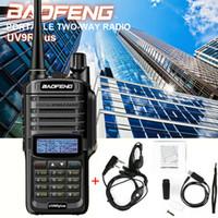 Wholesale ranges walkie talkie resale online - Baofeng UV R Plus Walkie Talkie High Power km Long Range Way Radio UHF VHF