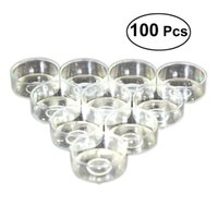 Wholesale cylinder pc for sale - Group buy 100 Plastic Candle Holder Clear Candle Cup For Temple Supplies Y19061804