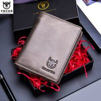 álbumes de cuero al por mayor-Cow captain men's short paragraph vertical wallet leather multi-card position first layer leather album driving plus thick padded wallet