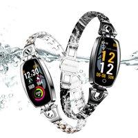 h8 bluetooth оптовых-H8 Фитнес Браслет Женщины Спорт Смарт Часы 2019 Водонепроницаемый Мониторинг Сердечного ритма Bluetooth Для Android IOS Браслет