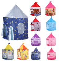 ingrosso i bambini giocano il castello-135 cm Kids Play Tent Ball Pool Tent Boy Girl Princess Castle Portable Indoor Outdoor Baby Play Tents House Hut For Kids Toys