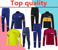Wholesale football training kits for sale - Group buy 2020 new adult TRAINING SUIT kit soccer uniform best quality customize Adult football tracksuit long Zipper jacket tracksuit