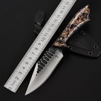 kleines selbstverteidigungsmesser großhandel-Säbel mit Outdoor-Messer Selbstverteidigung Kommando Taktik Messer Bi Wildnis Überleben kleines gerades Messer scharfe Kante