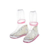 дождь человек обувь оптовых-Reusable Waterproof Overshoes Shoe Covers Shoes Protector Men Women's Rain Cover Anti-Slip PVC Overshoes for Shoes Accessories