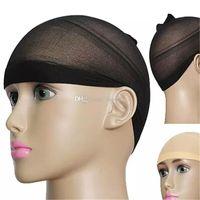 couture élastique noir achat en gros de-Unisexe Stocking Wig Liner Cap Snood Nylon Stretch Mesh 2000pcs Livraison gratuite aa41-aa48