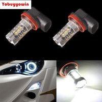 Wholesale headlamps free shipping resale online - H11 PGJ19 H8 W CREE Chips LED Super White Headlamp FogDriving No Error for MINI