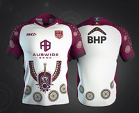 camisetas de rugby personalizados al por mayor-Nombre personalizado y número 2019 2020 Australia JERSEY INDEPENAS MAROONS Queensland QLD Maroons home rugby Jerseys camiseta s-5xl