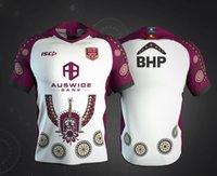 camisas de rugby personalizadas venda por atacado-Nome e número personalizado 2019 2020 Austrália MAROONS JERSEY INDÍGENA Queensland QLD Maroons home rugby Jerseys camisa s-5xl