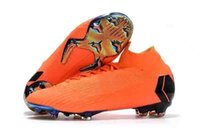 элитный оранжевый футбол оптовых-Оригинальные Новые Мужские И Женские Ртутные Superfly Orange Gold Vi 360 Elite Fg Модные Футбольные Бутсы