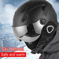 Ski Helmet Goggles Visor Men Women Snowboard Helmet Snowmobile Skateboard Safety Winter Warm Mask Ski Mas