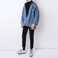 yüksek markalı giyim ceketi toptan satış-Yeni Geldi Tasarımcı Jean Ceketler Erkek Kadın Lüks Kot Moda Marka Coat Bahar Sonbahar Ceket Ceket Dış Giyim Giyim Yüksek kalite