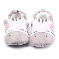 Wholesale animal shoes for children resale online - Baby Crib Shoes for Girls Child Cute Cartoon Animal Loafers Soft Sole Slip on Newborn Slippers Infant Footwear Toddler Kid Flats