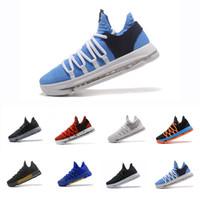 atletik seçkin toptan satış-2019 Yakınlaştırma KD 10 Yıldönümü PE BHM Kırmızı Oreo üçlü siyah Erkekler Basketbol Ayakkabıları Elite Düşük Kevin Durant Atletik Spor Sneakers 40-46