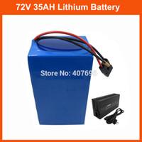 4a batterieladegerät großhandel-Hohe Kapazität 72V Ebike Batterie 3500W 72V 35AH Lithiumbatterie 3.7V 5AH 26650 Zelle 50A BMS mit Ladegerät 4A Freie Zollabgabe