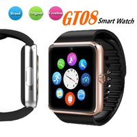 ingrosso guarda iphone sync-Smartwatch GT08 Clock Support Sync Notifier Sim Card Smartwatch-GT08 Connettività Bluetooth per Android Apple iPhone Phone Smart Watch