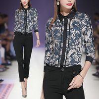 blusen langarm verkauf großhandel-Temperament Womens Shirt Mode elegante Blusen Damen Shirts Langarm gedruckt Busienss Office Shirt heißer Verkauf