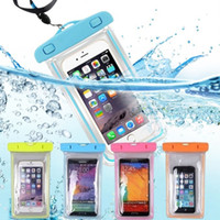 Wholesale underwater pouch for phone online – custom Waterproof Phone Pouch Drift Diving Swimming Bag Underwater Dry Bag Case Cover For Phone Water Sports Beach Pool Skiing inch