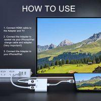 av numérique hdmi achat en gros de-2019 Nouvel adaptateur de câble HDMI professionnel pour interface Apple 8 broches vers HDMI Convertisseur AV numérique pour iPad iPhone iOS 12.3 11