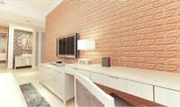 papel de parede impermeável da cozinha venda por atacado-60 * 30 cm painéis de Parede 3D Imitação Tijolo Decoração Do Quarto À Prova D 'Água Auto-adesivo Papel De Parede Para Sala de estar Cozinha TV Cenário Decoração