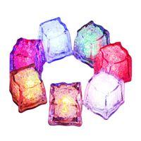 iluminación para la fotografía al por mayor-Cubo de hielo sin llama con forma de lámpara de luz sumergible con luz led sumergible para fiesta para el hogar Pantalla Fotografía apoyos de cocina