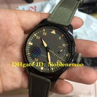 Wholesale Luxury ZF Factory Watch Real shots Men s mm Pilots IW501902 Ceramic Days Power Reserve Swiss CAL Movement Automatic Mens Watches