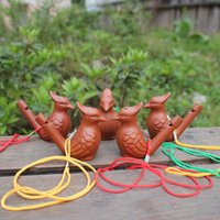 artisanat pour enfants achat en gros de-Oiseau Forme Sifflet Céramique Arts Et Artisanat Creative Enfant Jouets Cadeau Eau Ocarina Vente Chaude Expédition Rapide