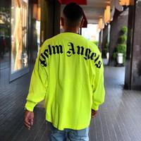 herbst-sweatshirts großhandel-19FW Palm Angels Langarm-Sweatshirt Logo Gedruckt Frühling Herbst T-Shirt Pullover Einfach T-Shirt Pullover Street Casual Outdoor T-Shirt HFYMWY240