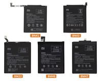 original xiaomi redmi venda por atacado-Xiao mi bn41 bateria do telefone original para xiaomi redmi note 4 4x 3 pro 3s 3x 4x mi 5 bn43 bm43 bm46 bm47 bm47 baterias de substituição