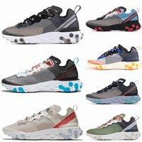 kırmızı kemikler kadınlar toptan satış-2019 Eleman React Erkek kadınlar için 87 Koşu Ayakkabıları Antrasit Işık Kemik Üçlü Siyah Beyaz KıRMıZı ORBIT Moda Erkekler Eğitmenler Spor Sneaker
