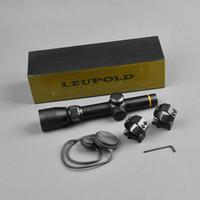 aydınlatılmış taktik kapsam toptan satış-Yeni LEUPOLD 1.5-5X20 Optik Tüfek Avcılık Kapsam Mil-nokta Işıklı Airsoft Hava Tüfekler Için Taktik Kapsam Riflescopes