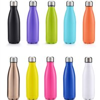 kalte stahlwasserflasche groihandel-Wasserflasche Trinkflasche Sport-Flasche 500ML Edelstahl-304-Material warmen und kalten Keeping