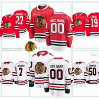 c78caf554 Chicago Blackhawks Hockey Jerseys 27 Laurent Dauphin 19 Jonathan Toews 7  Brent Seabrook 50 Corey Crawford customized Jersey